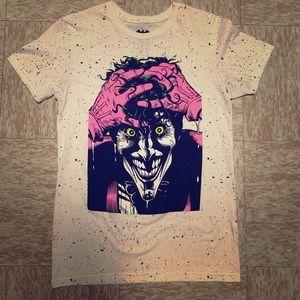 White Joker T-Shirt Insane & Speckled Small